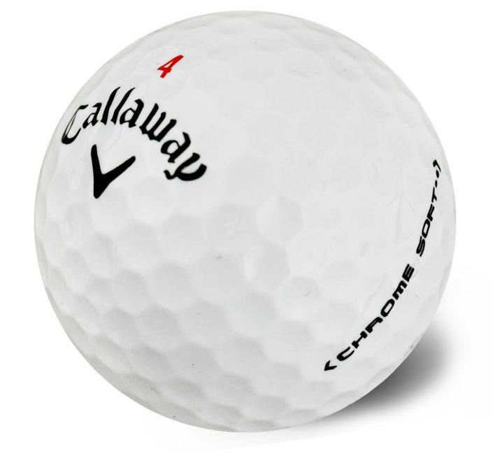 Nærmynd af Callaway Chrome Soft golfbolta.