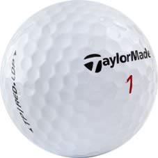 Nærmynd af Taylor Made golfbolta.