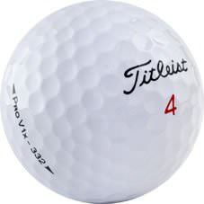 Titleist Pro V1x golfbolti í nærmynd.