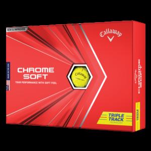Callaway Chrome Soft TripleTrack Gulur – Sérmerking